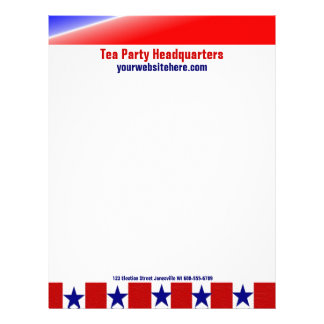 Wave the Flag Personalized Patriotic Letterhead