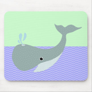 wave the whale mouse pad