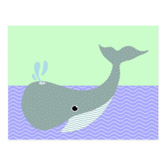 wave the whale postcard