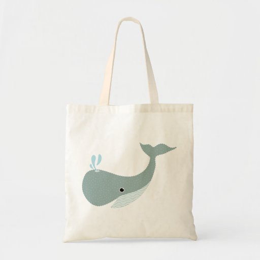 wave the whale tote bags