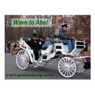 Wave to Abe Lincoln Postcard