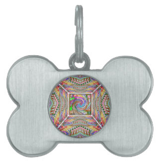 WAVE Tornado Art in a TUNNEL Pet Name Tag
