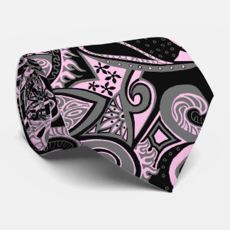 Wave Trip Floral Paisley Single-side Printed Neck Tie