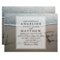 Wave Tropical Destination Beach Love Wedding Card