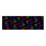 Wave Twists Dark Rainbow Gem Mosaic Artwork Business Card Template
