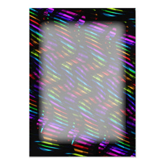 Wave Twists Dark Rainbow Gem Mosaic Artwork Card