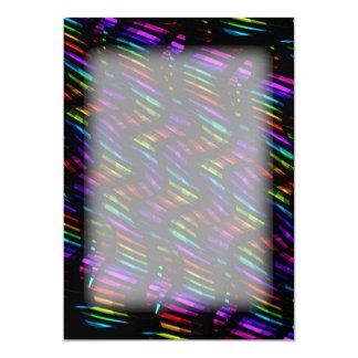 Wave Twists Dark Rainbow Gem Mosaic Artwork Card