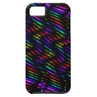 Wave Twists Dark Rainbow Gem Mosaic Artwork iPhone SE/5/5s Case