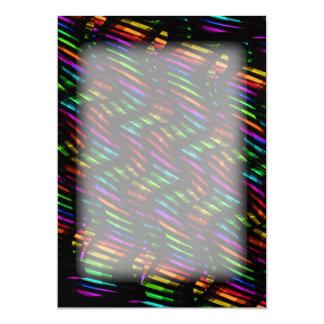 Wave Twists Hot Rainbow Gem Mosaic Artwork Card