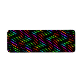 Wave Twists Hot Rainbow Gem Mosaic Artwork Label