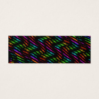 Wave Twists Hot Rainbow Gem Mosaic Artwork Mini Business Card