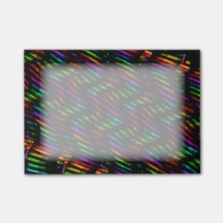 Wave Twists Hot Rainbow Gem Mosaic Artwork Post-it Notes