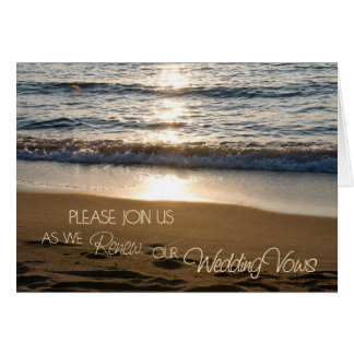 Wave Vow Renewal Ceremony Invitation Card