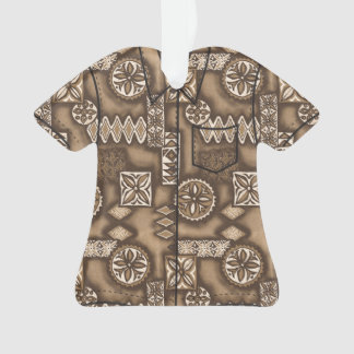 Wave Warrior Hawaiian Primitive Tapa Aloha Shirt Ornament