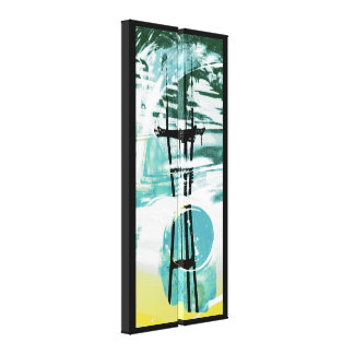 Waved tower gallery wrapped canvas