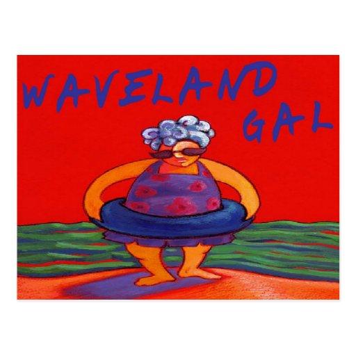 Waveland Gal Postcard