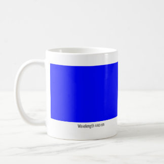 Wavelength 440 nm coffee mug