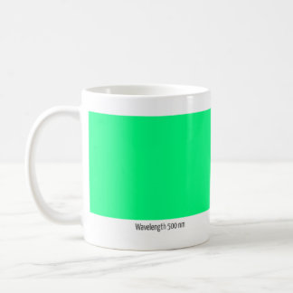 Wavelength 500 nm coffee mug
