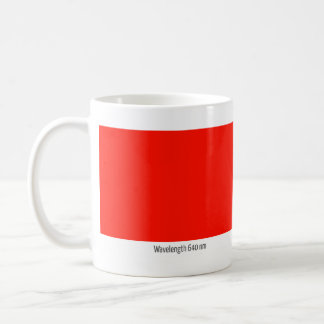 Wavelength 640 nm coffee mug