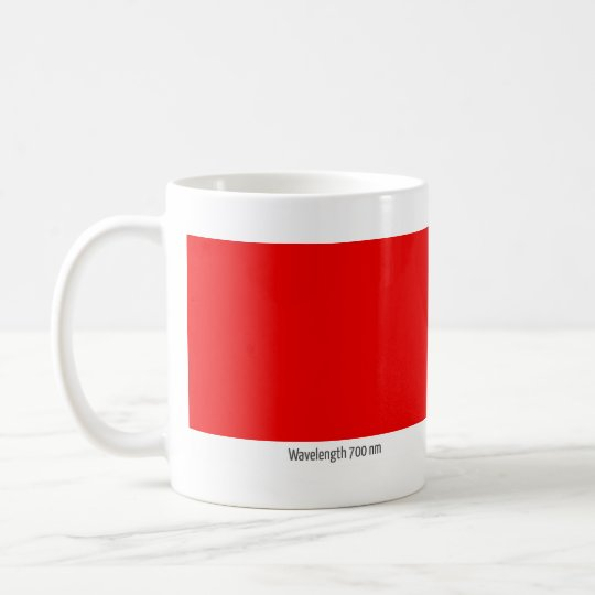 Wavelength 700 nm coffee mug
