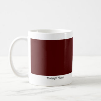 Wavelength 780 nm coffee mug