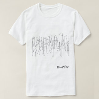 wavelength line design T-shirt