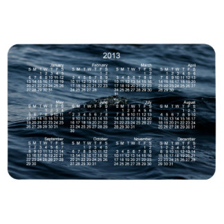 Wavelet; 2013 Calendar Rectangular Photo Magnet