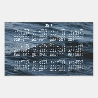 Wavelet; 2013 Calendar Rectangular Sticker