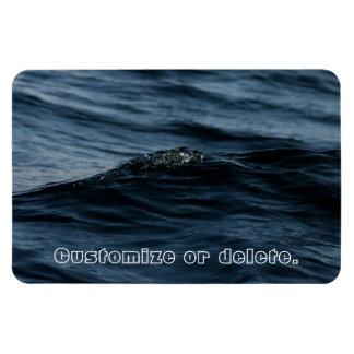 Wavelet; Customizable Rectangular Photo Magnet