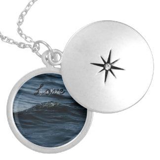 Wavelet; Customizable Round Locket Necklace