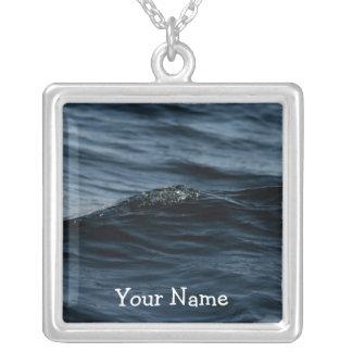 Wavelet; Customizable Square Pendant Necklace