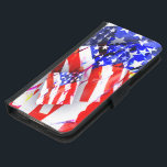 "&#39;waveOn&#39; Samsung Galaxy S5 Wallet Case<br><div class=""desc"">Patriotic red,  white and blue! Wallet can be used with an iPhone 5 or 6,  or Samsung Galaxy S4 or S5. All designs and illustrations&#169;GwenGordonArt</div>"