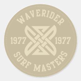 Waverider Classic Round Sticker