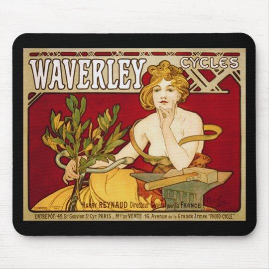 Waverley Cycles - Art Nouveau - Alphonse Mucha Mouse Pad