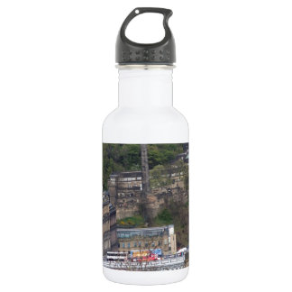 Waverley Station and other monuments in Edinburgh 18oz Water Bottle