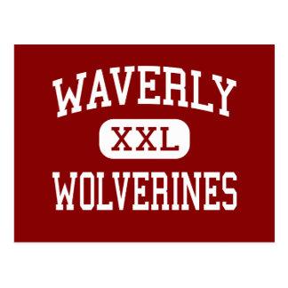 Waverly - Wolverines - High - Waverly New York Postcard