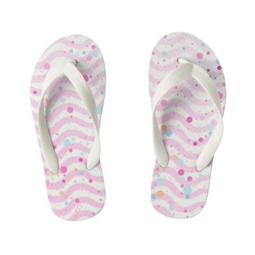 Waves1 - Kids Kid's Flip Flops
