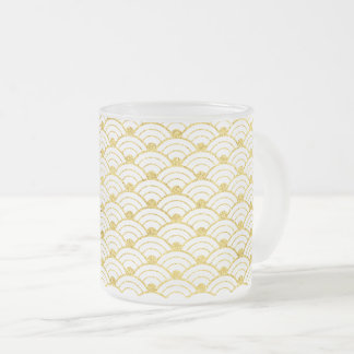 Waves3 Frosted Glass Coffee Mug