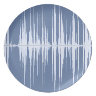 waves 1 melamine plate