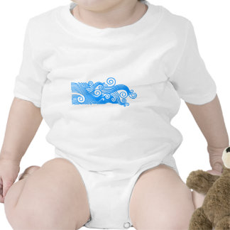waves-723178 SURF WAVES GRAPHIC ART BACKGROUND WAL Bodysuits