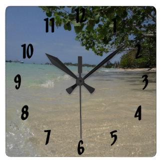 Waves Along Negril Beach Jamaica Wall Clock