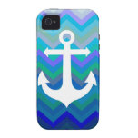 Waves & Anchor iPhone 4/4S Cases
