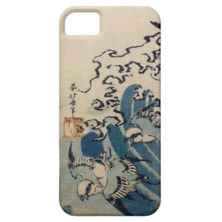 Waves and Birds, c.1825 (colour woodblock print) iPhone SE/5/5s Case