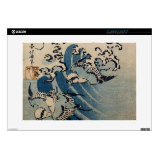 Waves and Birds, c.1825 (colour woodblock print) Skin For Laptop