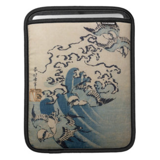 Waves and Birds, c.1825 (colour woodblock print) Sleeves For iPads