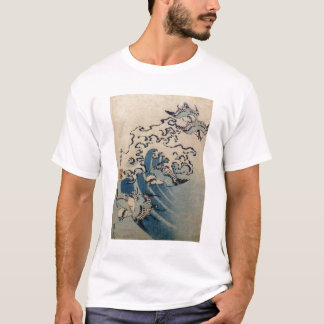 Waves and Birds, c.1825 (colour woodblock print) T-Shirt
