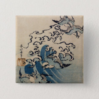 Waves and Birds, c.1825 Pinback Button