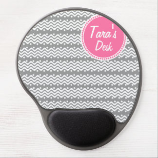 Wave's and Dots Gel Mouse Pad