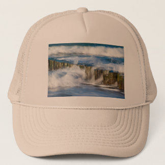 Waves and groynes on the Baltic Sea coast Trucker Hat