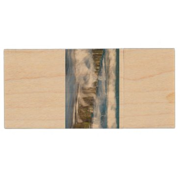 Waves and groynes on the Baltic Sea coast Wood Flash Drive
